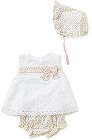 Edgehill Collection Baby Girls Newborn-6 Months Sweet Baby Girl Dress & Floral Bonnet Set