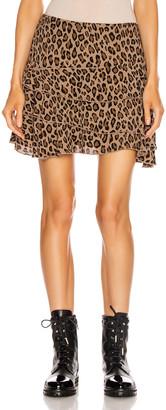 R 13 Flounce Skirt in Leopard | FWRD