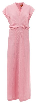 colville Cap-sleeve Panelled Dress - Pink