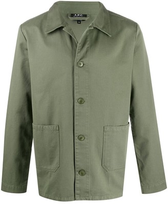 A.P.C. Pointed Collar Shirt Jacket