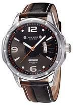 Julius JAH-033 Male Men's Black Quartz Analog Military Calendar Watch with Genuine Leather Strap