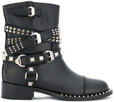 Philipp Plein buckle strap studded boots