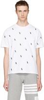 Thom Browne White Penguin Piqué Crewneck T-shirt