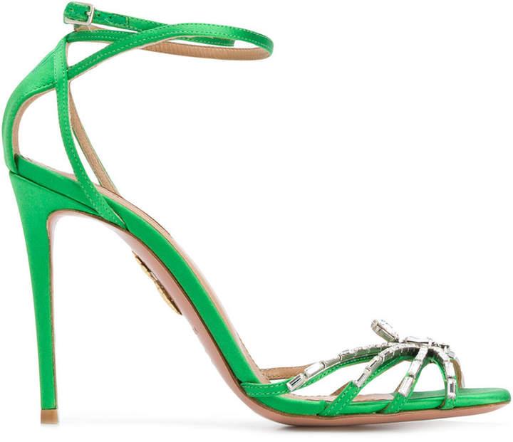Aquazzura Crystal Spider sandals