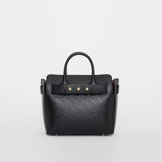 Burberry The Small Monogram Leather Triple Stud Belt Bag