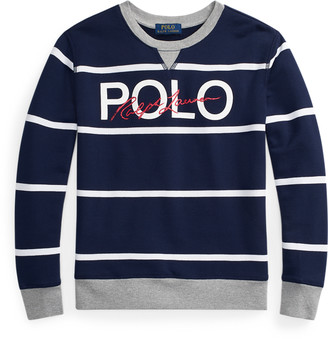 Ralph Lauren Logo Cotton Terry Sweatshirt
