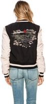 The Hidden Way Embroidered Bomber Jacket