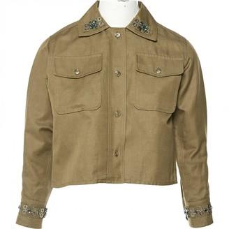 Sonia Rykiel Khaki Cotton Jacket for Women