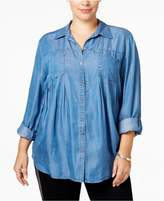 Style and Co Plus Size Denim Shirt, Created for Macy's