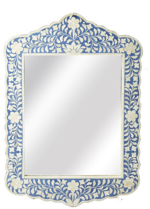 Butler Specialty Company Butler Vivienne Blue Bone Inlay Wall Mirror