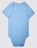 Marks and Spencer Pure Cotton Short Sleeve Bodysuit (3-16 Years)