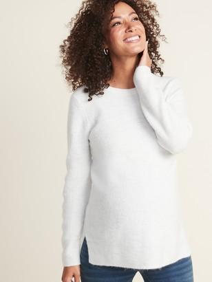 Old Navy Maternity Soft-Brushed Shaker-Stitch Tunic Sweater