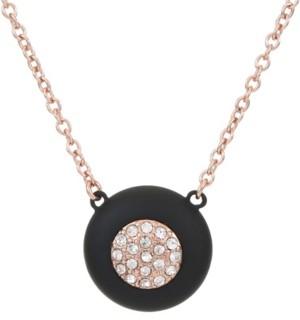 Trifari 12K Rose Gold-Plated Pendant Necklace