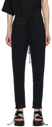 Ann Demeulemeester Black Tie-Cuff Lounge Pants