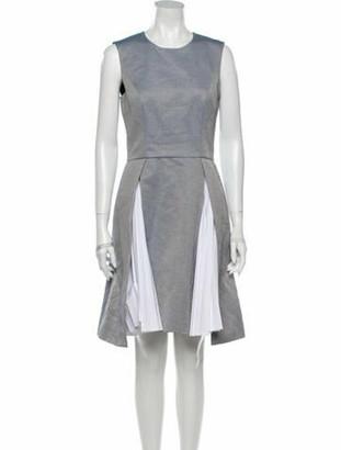 ADEAM Printed Knee-Length Dress Blue