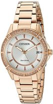 Citizen Drive From Eco-Drive Women's Quartz Stainless Steel Casual Watch, Color: Rose Gold-Toned (Model: FE6063-53A)