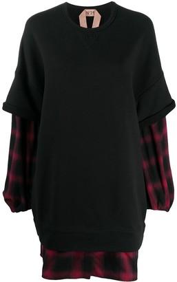 No.21 Layered Sweatshirt Dress