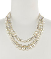 Cezanne Triple-Row Mixed Pearls Necklace