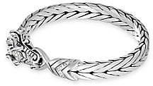 John Hardy Men's Legends Naga Diamond Pavé & Sapphire Dragon Eyes Bracelet