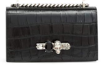 Alexander McQueen Jewelled black satchel