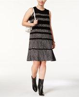 MICHAEL Michael Kors Size Printed Sleeveless A-Line Dress