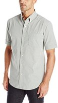 Arrow Men's Short Sleeve Mini-Plaid Hamilton Shirt