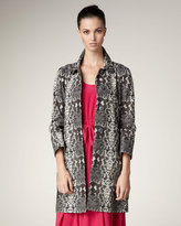 Marc by Marc Jacobs Python-Print Trench