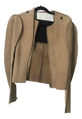 Maison Martin Margiela Pour H&m Camel Suede Jackets