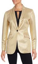 Anne Klein Metallic Textured Blazer Jacket