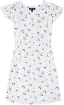 Velveteen Julieta Floral Cap-Sleeve Dress, Size 4-6
