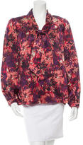Peter Som Printed Silk Blouse