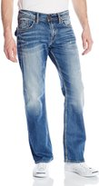 Silver Jeans Men's Zac Medium Wash Flap Relaxed Fit Straight Leg