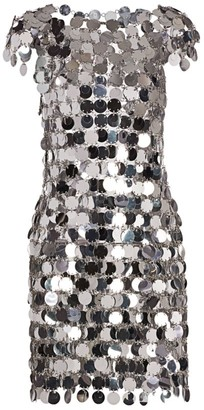 Paco Rabanne Paillette Chain Dress