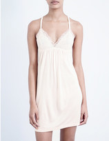 Eberjey desiree jersey and lace chemise