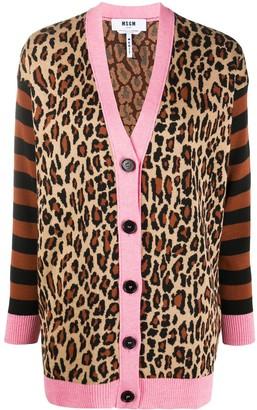 MSGM Leopard-Print Cardigan