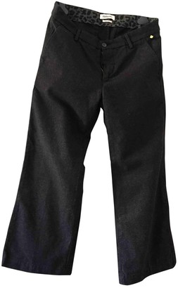 Roy Rogers Roy Roger's Black Cotton Trousers for Women