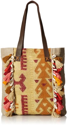 Ale By Alessandra Women's Jaipur Cotton-linen Blend Rug Tote