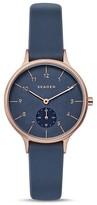 Skagen Anita Silicone Strap Watch, 34mm