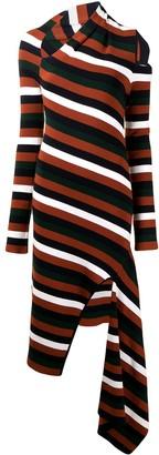 Monse Striped Cut-Out Dress
