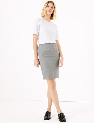 Marks and Spencer Checked Mini Pencil Skirt