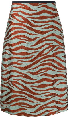 Odeeh High Waisted Tiger Stripe Skirt