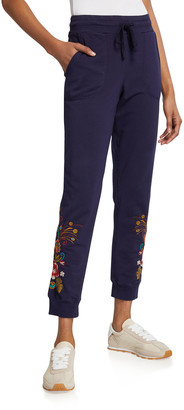 Johnny Was Plus Size Shula French Terry Jogger Pant