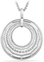David Yurman Stax Large Pendant Necklace With Diamonds, 50Mm
