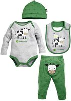 John Deere Baby Boy 4-pc. Cow Bodysuit & Pants Set