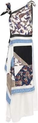 3.1 Phillip Lim Bead-embellished Layered Patchwork-effect Silk-twill Maxi Dress