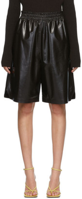 Bottega Veneta Brown Leather Shorts
