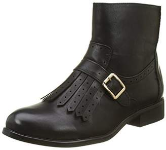 Buffalo David Bitton Shoes Women's B195a-67 P2173a Leather Pu Boots, (Black 01)