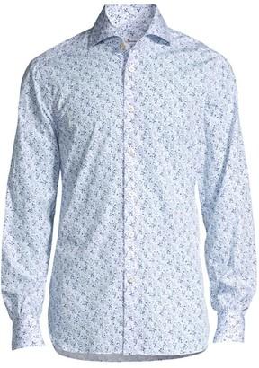 Kiton Floral Cotton Sport Shirt