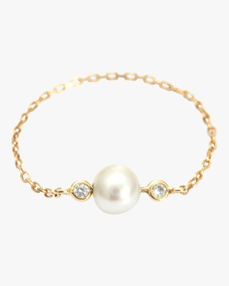 Yi Collection Pearl And Diamond Chain Ring