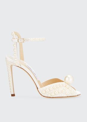 Jimmy Choo Sacora Faux Pearl Sandals
